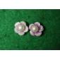 lureme®flower padrão brincos de pérola
