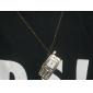 Unisex Mobile Phone Style Alloy Analog Quartz Keychain Necklace Watch (Bronze)