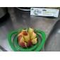 инструмент яблоко формы пластиковые легко фрукты резки резак (случайные цвета)