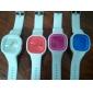 Кварцевые часы с силиконовым ремешком (белые)