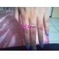 lureme®gold anillo de aleación colorida forma del labio chapado