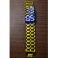ice samurai - Japans geïnspireerde blauwe LED horloge - gouden