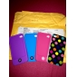 Dot Pattern Silicone Case for iPhone 4 and 4S (Assorted Colors)