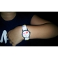 Children's Flower Style Silicone Analog Quartz Wrist Watch with Flashing LED Light (White) Cool Watches Unique Watches