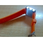 Unisex Red LED Digital Square Case Orange Silicone Band Wrist Watch Cool Watch Unique Watch