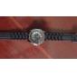 Chrysanthemum Formet Metal Urskive Design Quartz Unisex Armbåndsur - Sort