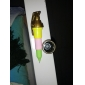 Retractable Grenade Shaped Black Ink Gel Pen (Assorted Color)