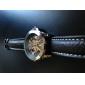 Pulso Unisex de PU analógica mecânica Watch (Brown)