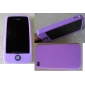 Chocolate Bean Silicon Case for iPhone 4 (Purple)