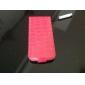 grão design dobrável capa de couro de crocodilo pu para o iphone 5/5s (cores sortidas)