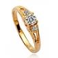 Anéis Pedras dos signos Casamento / Diário Jóias Cristal / Liga Feminino Anéis Grossos9 / 8½ / 9½ Dourado