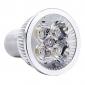 Focos MR16 GU10 3 W 4 LED de Alta Potencia 150 LM K Blanco Natural AC 85-265 V