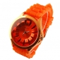 Women's Chrysanthemum Style Dial Silicone Band Quartz Analog Wrist Watch (Orange) Cool Watches Unique Watches