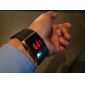 Men's Watch Red LED Silicone Strap