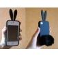 Черный защитный чехол с кроликом для iPhone 4