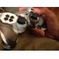 de protección de doble color de estilo funda de silicona para PS3 controlador (marrón y blanco)