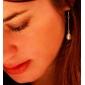 lureme®single 체인 진주 귀걸이