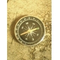 kompas logam portabel dengan gantungan kunci (besar)