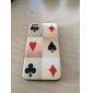 caso padrão de poker difícil para iphone 4 e 4S (branco)