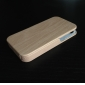 Wood Style PU Back Case for iPhone 4