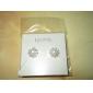 lureme®flower formet perleørering med rhinestone