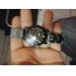 Pair of Couple's Analog Alloy Style Quartz Wrist Watches (Silver)