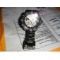 SHENHUA Masculino relógio mecânico Relógio de Pulso Automático - da corda automáticamente Gravação Oca Aço Inoxidável Banda Preta Preto