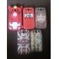 Sött Gris-Skal för Samsung Galaxy S3 I9300 (Blandade färger)