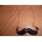Lureme®Mustache Pendant Long Chain Necklace