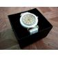 Femme Quartz Bande Vintage Blanc Marque-