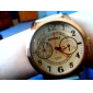 Dames Modieus horloge Kwarts PU Band Zwart Wit Rood Bruin Merk