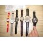 Reloj Pulsera Quartz Análogo de Cuero para Hombres, Con 3 Zonas Horarias- Colores Surtidos