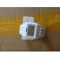 LEDナイトライトが付いているブロックレンガデザインバンド腕時計 - 白