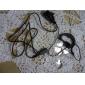 mãos-livres clip-on microfone para fones de ouvido walkie talkie (preto)