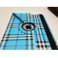 Grid Style PU Leather Case with Stand for iPad 2/3/4 (Bule)