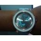 Кварцевые аналоговые женщин 3 бабочки шаблон PU группы наручные часы (разных цветов)