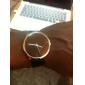 Mode Quartz Armbåndsur Med Sort PU Rem