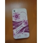 Red Flower Pattern Protective Ultra Thin Hard Case for iPhone 4 and 4S