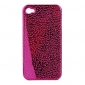 Water Drops Style Protective Plastic Back Case for iPhone 4 - Purple