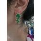 녹색 번개 아크릴 귀걸이