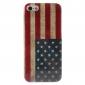 rétro cas dur de modèle de drapeau nous pour iphone 5/5s