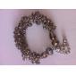 Light Brown Chamfer Water-shaped Crystal Bracelet