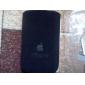 funda protectora suave con correa de seguridad para el iPhone 3G (negro + rojo)