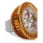 Lâmpada de Foco GU5.3 W 360 LM 3000K K Branco Quente 4 LED de Alta Potência DC 12 V MR16