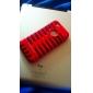 Detachable 3D Design Fishbone Pattern Hard Case + Soft Case for iPhone 5/5S (Assorted Colors)