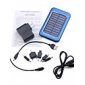 6-in-1 Portable Solar Panel Charger + LED Flashlight for iPhone 4/Cellphones (Blue, 2600mAh)