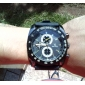 Men's Watch Military Racing Style Big Dial Silicone Strap