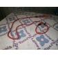 Коты Собаки Поводки Поводок-удавка Регулируется/Выдвижной Твердый Красный Черный Синий Телесный Нейлон