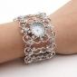 Women's Diamond Style Bracelet Wrist Watch (Silver)