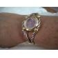 Montre-Bracelet pour Femme à Quartz, Affichage Analogique, Cadran Rond, en Acier - Assortiment de Couleurs